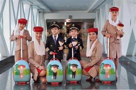 New Cabin Crew and Pilot uniforms for young Emirates fans