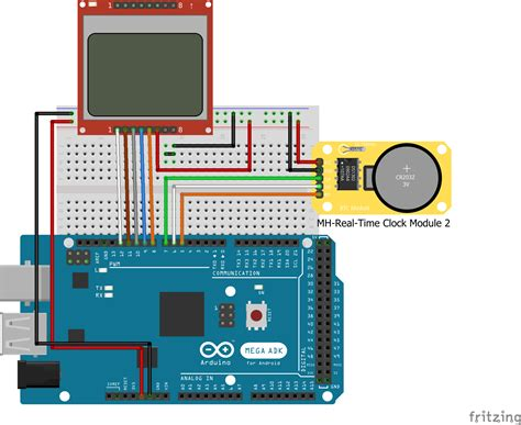 Arduino Real Time Clock with DS1302 and Nokia 5110 LCD