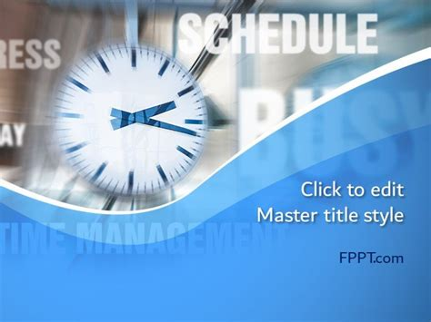 Free Time Concept PowerPoint Template - Free PowerPoint
