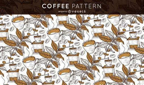Seamless Coffee Pattern - Vector Download